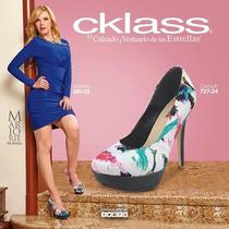 Zapatos Cklass Multicolor Textil Plataforma 13cm T.4mx Nuevo