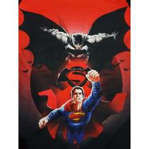 Playera Superman Y Batman Niño, Original Dc Comics Importada