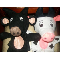 Gcg Lote De Titeres Bocones Vaca Y Toro 2 Pzas