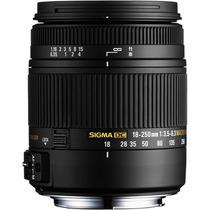 Lente Sigma 18-250mm F3.5-6.3 Dc Para Nikon + Caneta Limpeza