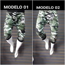 Camuflajeado Pants 3/4 Capri Baggy Militar