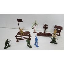 Boneco Soldado De Guerra / Soldadinho E Acessórios - Ref. 72