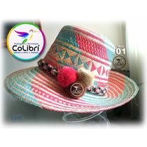 Sombreros Guajiros Wayuu Con Bellota