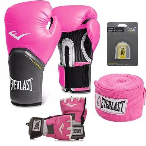 Kit Boxe E Muay Thai Pro Style Everlast Rosa - R  239 2de3f153b35e5