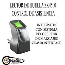 Lector Biometrico Captahuellas Usb Zk4500 Control De Asiste