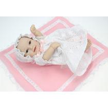 Bebê Reborn Menina Realista Silicone/vinil 25 Cm P. Entrega!