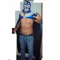 Traje Capa Y Mascara De Luchador Huracan Ramirez Adulto