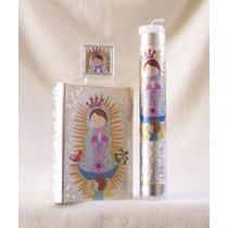 Primera Comunión, Virgencita, Biblia, Vela Y Rosario