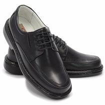 Sapato De Amarrar Preto Solado Bloqueado