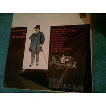 Disco Acetato De Trio Culiacan Las Canciones De Don Susanito