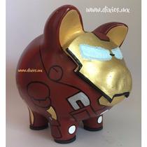 Alcancia Superheroe Ironman Cochinito Marranito Puerquito