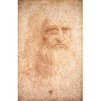 Cuadro Tela Autoretrato Leonardo Da Vinci 1513 77 X 50