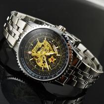 Relógio Jaragar Importado Original Luxo Automático Inox