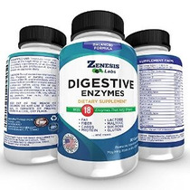 Enzimas Digestivas Suplemento - 90 Cápsulas - Con Proteasa A