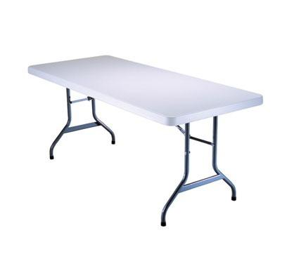 Mesa plegable de plastico lifetime banquete x m for Mesas de jardin de plastico