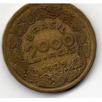Moeda 2000 Reis 1939 Ref 177