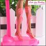 Sandália Gladiadora P/ Boneca Barbie * Sapatinho Luxo Bota