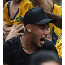 Boné Neymar Jr Preto Aba Curva Trucker Cap Tela