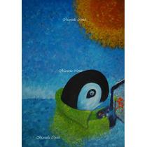 Ballena Pintando Tabachines Para Ti *obra Original Azul