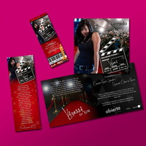 Paquete Xv Años Invitacion Con Foto Hollywood Personal