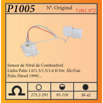 Sensor De Nivel De Combustivel Linha Palio 1.0/1.3/1.5/1.68