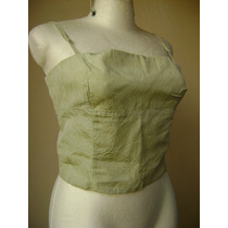 Blusa Verde Con Espalda Descubierta Talla-s! Bl546