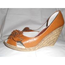 Zapato Sandalia Con Flor Taco Chino