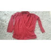 Malha Cardigan Blusa Frio 46 Vermelha Feminina Moderna Quent