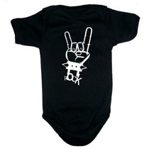 Ropa De Bebe Alternativa - Pañaleros Negros Rockeros