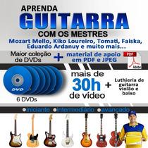 Video Aulas Em Dvd, Guitarra, Violão E Luthieria + Brinde