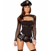 Fantasia Sexy Traje Polícial Feminina 6 Peças