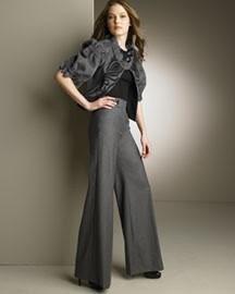 0b798656f Calça Pantalona Feminina Social Muito Elegante Cinza - R$ 195,00 em ...