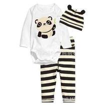 Pijama Bebê 3 Peças Novo Importado Recém Nascido
