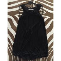Vestido Clásico Negro Al Cuello Disimula Todo Embarazada
