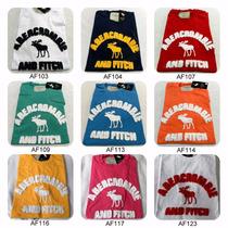 10 Camisetas Camisas Hollister Abercombie Bordadas Lavada