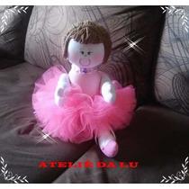 Boneca De Pano Bailarina Grande 40cm