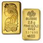 Pamp Suisse 2.5 G. Lingote Oro Puro .9999, Con Certificado.