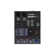 Alesis - Multimix Fx 4 Usb Mezclador De 4 Canales - Negro /