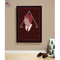 Quadro Poster Rony Weasley - Harry Potter Moldura Tamanho A3