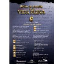 Libro Biblia De Estudio Vida Plena - Tela Negro - Nuevo