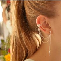 Brinco Folha Longo Metal Ear Cuff Semi-jóias Quality Oferta