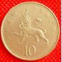 10 New Penc 1975 Moneda Reino Unido Gran Bretaña Escocia Hm4