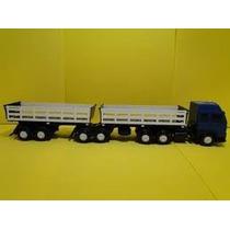 1 Bitrem Brinquedo Caminhão Carreta 7 Eixos 65cm Articulado