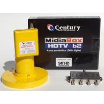 Receptor Midia Box B2+lnbf Multi Superdig Century+divisor1x4