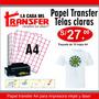 Papel Transfer A4 Telas Claras Algodón 100% - 10 Hojas