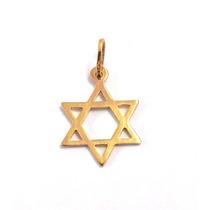 Pingente Estrela De Davi Em Ouro 18k-750- Frete Grátis