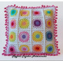 Almohadon Al Crochet Con Puntilla - Tejidos Artesanales