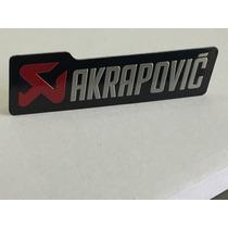 Emblema Akrapovic Em Aluminio P/ Temperatura Escapamento