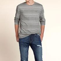 Camisa Camiseta Hollister Abercrombie Masculina Manga Longa