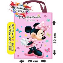 50 Sacolinhas Bolsinhas Personalizadas Ecobag Minnie Mickey